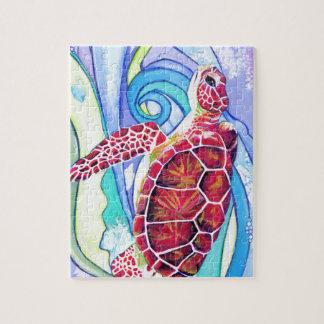 Surfin' Turtle Jigsaw Puzzle
