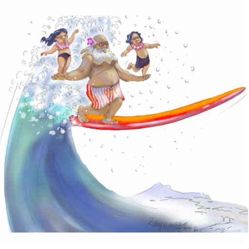 sUrFiN WiTh sAnTa Acrylic Cut Out