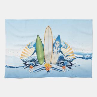 Surfing 2 Kitchen Towels
