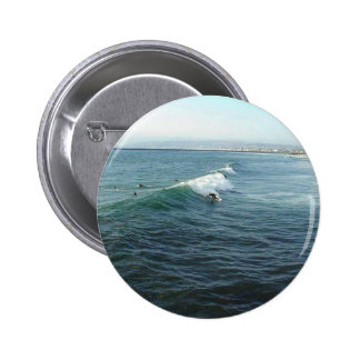 Surfing At Ocean Beach 2 Inch Round Button