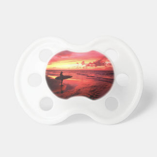 Surfing At Sunset Baby Pacifier