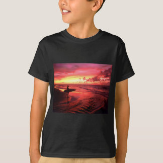 Surfing At Sunset T-Shirt