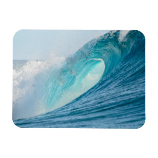 Surfing barrel wave breaking rectangular magnet