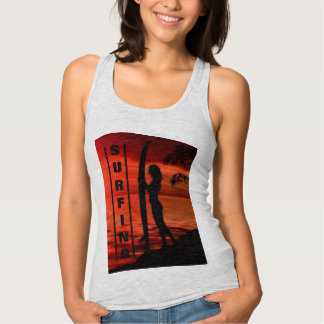 Surfing Beach Culture Tank Top