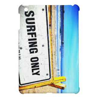 Surfing Beach Sign Savvy iPad Mini Glossy Case iPad Mini Covers