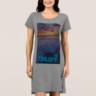 Surfing beach waves at sunset dress