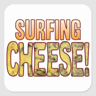 Surfing Blue Cheese Square Sticker