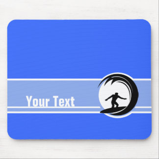 Surfing; Blue Mouse Pad