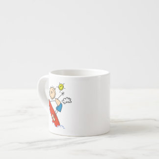 Surfing Boy Stick Figure Espresso Cup