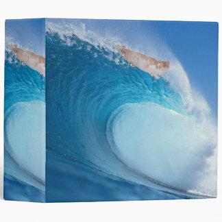 Surfing Cat Vinyl Binder