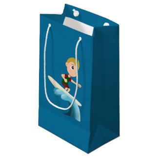 Surfing child cartoon small gift bag