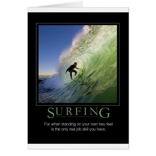 Surfing_Demotivational Poster Card