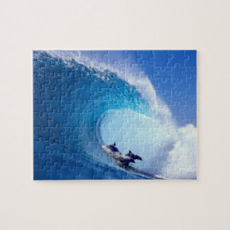 Surfing Dolphins Jigsaw Puzzle