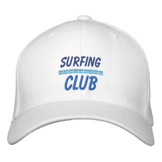 Surfing Embroidered Hat Water sports Club Embroidered Hat