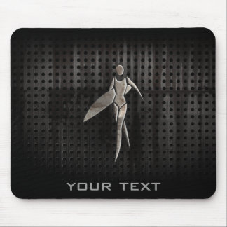 Surfing Girl; Cool Mouse Pad