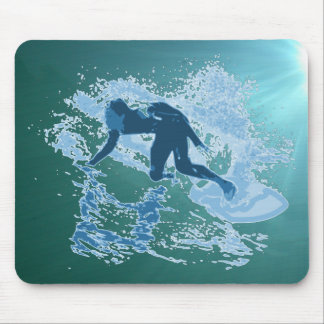 Surfing Graphic Mouse Pad