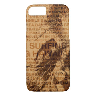 Surfing Hawaii Green Room Faux Wood Surfer Case-Mate iPhone Case
