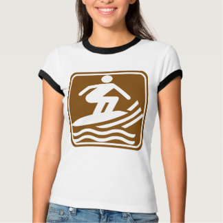 Surfing Highway Sign T-Shirt
