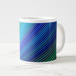Surfing in a magic wave giant coffee mug
