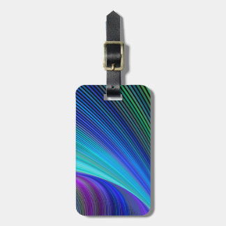 Surfing in a magic wave luggage tag