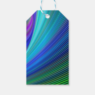 Surfing in a magic wave pack of gift tags