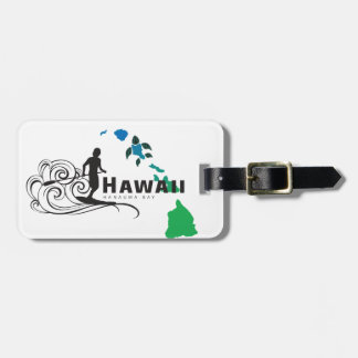 Surfing in Hawaii 13 Luggage Tag