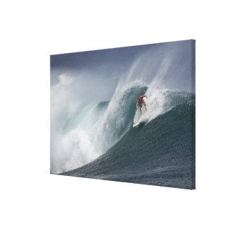 Surfing indonesia java island canvas print