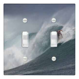 Surfing indonesia java island light switch cover