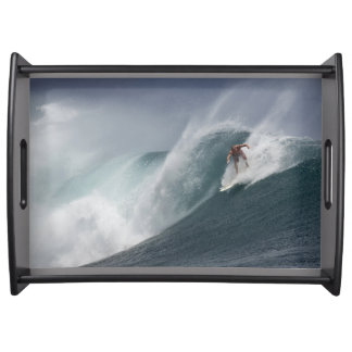 Surfing indonesia java island serving tray