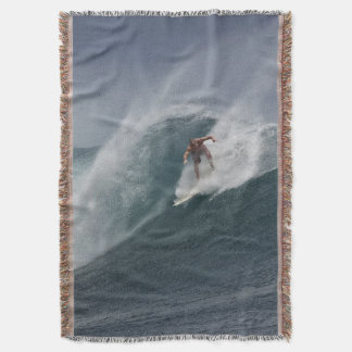 Surfing indonesia java island throw blanket