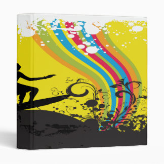 surfing into rainbows notebook-01 3 ring binder