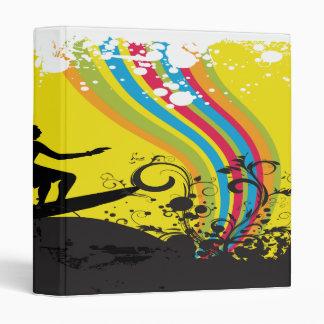 surfing into rainbows notebook-01 vinyl binders