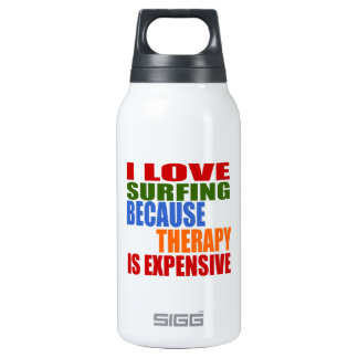 Surfing Is My Therapy Insulated Water Bottle
