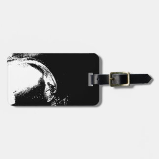 surfing luggage tag