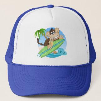 Surfing Monkey Beach Cartoon hat