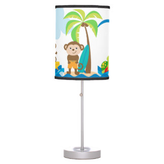 Surfing Monkey Lamp