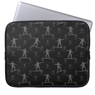Surfing Motif Pattern Laptop Sleeve