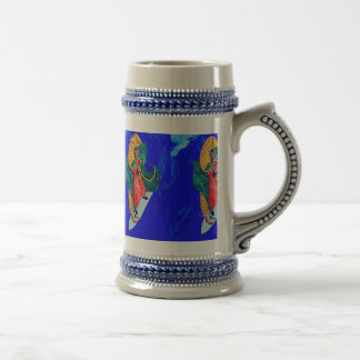 surfing nuns on blue wave beer stein coffee mug