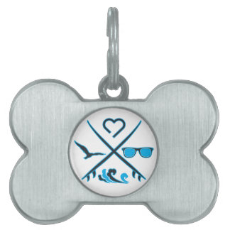 Surfing Pet Tag