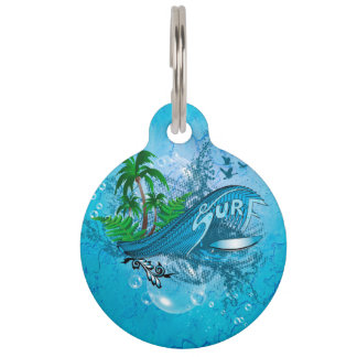 Surfing Pet Tags