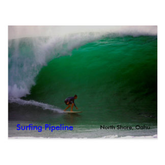 Surfing Pipeline North Shore Oahu Post Card