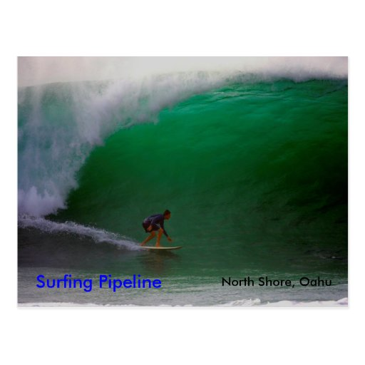 Surfing Pipeline  , North Shore, Oahu Post Card