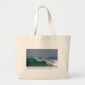 Surfing Puerto Escondido Mexico Large Tote Bag