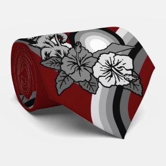 Surfing Safari Hawaiian Hibiscus Two-sidedPrinted Tie
