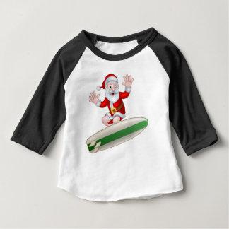 Surfing Santa Baby T-Shirt