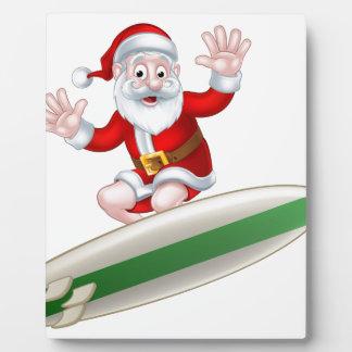 Surfing Santa Plaque