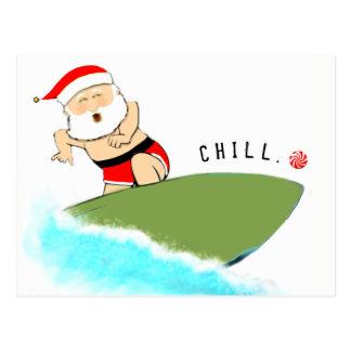 Surfing Santa Postcard