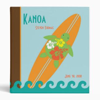 Surfing Sea Turtles Baby Book Binder