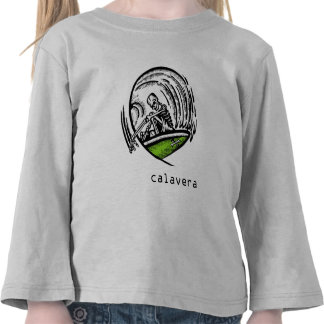 Surfing Skeleton-Calavera Kids Tee