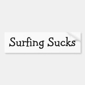 Surfing Sucks Bumper Sticker